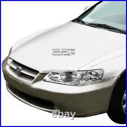 For 1998-2002 Honda Accord LED DRL Tube Chrome Clear Side Headlights+Tool Box