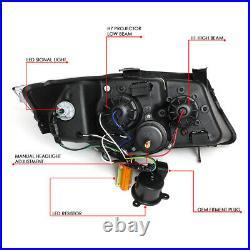 For 2009-2012 BMW 3-Series E90 3D LED Halo Projector Headlight+Tool Box Chrome
