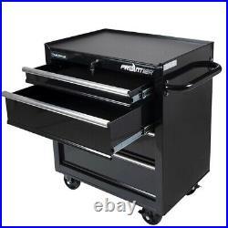 Frontier 4- Shelf 26 Bottom Chest Steel Tool Cabinet Organizer, Black
