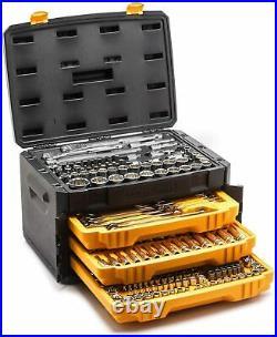 GEARWRENCH 243 Pc. 12 Pt. Mechanics Tool Set in 3 Drawer Storage Box 80972