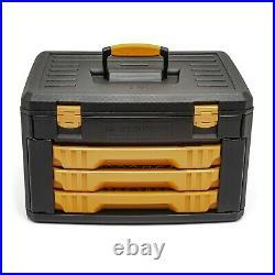 GEARWRENCH 80972, 243 Piece 12 Point Mechanics Tool Set & 3 Drawer Storage Box