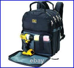HVAC 75-Pocket Tool Backpack Electrician Mechanic Technician Organizer Bag Box