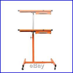 Heavy Duty Adjustable Work Table Bench, 200 lbs Rolling Tool Cart Alike Sunex