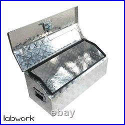 Heavy Duty Aluminum Tool Box for ATV Storage Truck Pickup RV, 30 L, Silver