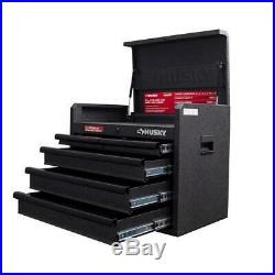 Husky 26 in. 5-Drawer Top Tool Chest Textured Black Storage Metal Secure Garage