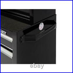 Husky 26 in. W 4-Drawer Rolling Cabinet Tool Box Chest Organizer in Gloss Black