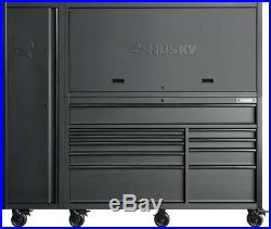 Husky 80 in. 10-Drawer Tool Chest and Cabinet Combo, Matte Black (3-Piece)