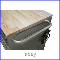 Husky Tool Chest Mobile Workbench Hardwood Top Stainless Steel