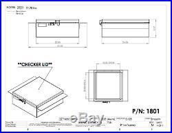Iconic MetalGear Aluminum In-frame Semi Truck Tool Box 22Wx9Hx24D P#1801