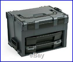 LS Boxx 306 Sortimo Bosch anthrazit mit i-Boxx 72 A3 u. Schublade LS-BOXX 306