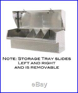 Low Side Mount Truck Tool Box 48 Lo-Side Toolbox. Movable Parts Tray, HeavyDuty