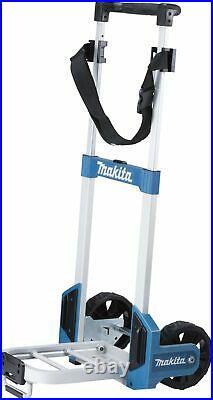Makita Foldable MakPac Case Trolley Sack Truck with Belt + Deep Makpac Case