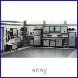 Metal Garage Storage Cabinet Tool Box Steel Chemical Wall Locker 6ft Shelves