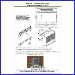 Metal Locking Wall Cabinet Tool Shop Garage Storage Shelf Heavy-Duty Steel Black