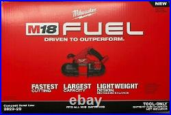 Milwaukee 2829-20 M18 Fuel Compact Band Saw New in Box (bare tool)