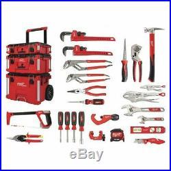 Milwaukee 48-22-0141 Packout 22-Piece Plumbers Trade Tool Kit