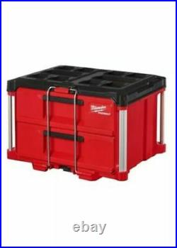 Milwaukee 48-22-8442 PACKOUT 2 Drawer Tool Box with Dividers Brand New