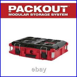 Milwaukee PACKOUT 22 In. Tool Box Modular Portable Storage Organizer Bin Tray