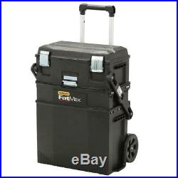 Mobile Tool Box 22 in. 4-in-1 Cantilever Storage Compartment Wheels Rolling NEW
