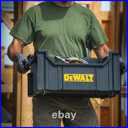 Mobile Tool Box Tote Large Rolling Storage Chest Wheels Stackable Wide Handle