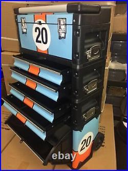 Motamec Modular Tool Box Trolley Mobile Cart Cabinet Chest C41H Gulf Racing