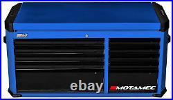 Motamec Motorsport M94 Large Top Chest Tool Box Cabinet Blue / Black
