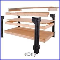 NEW Workbench Garage Heavy Duty Tool Storage Work Bench Drawer Shelving Kit 8 ft
