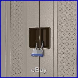 Outdoor Storage Cabinet Utility Resin Base Box Yard Garden Tool Locker Garage