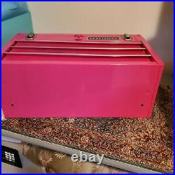 PINKCRAFTSMAN 3 Drawer Mechanics Portable Steel Tool Box Tool Chest