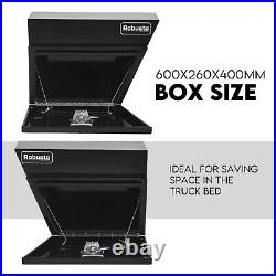 Pair of Undertray Toolbox Aluminium Under Tray Underbody Tool Box Black 600mm
