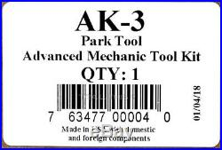 Park Tool AK-3 Advanced Bicycle Mechanic 40+ Piece Tool Kit with Tool Box / Case