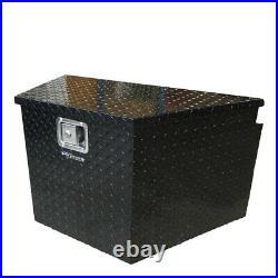 Pit Posse Black Trailer Tongue Storage Tool Box With Lock Truck UTV Pickup
