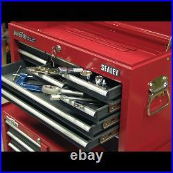 Red Grey 600x260x380mm Tool Chest 9 Drawer Toolbox Ball Bearing Runner BB21