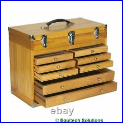Sealey AP1608W Wood Wooden Machinist Cabinet Toolbox Chest 8 Drawer Storage