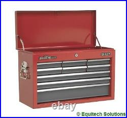 Sealey AP22509BB Tool Box Top Chest 9 Drawer Ball Bearing Runners Red/Grey