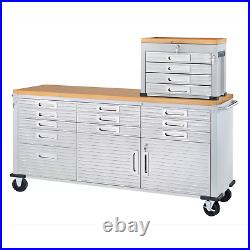 Seville Classics UltraHD Rolling Workbench with two door (Granite Or Graphite)