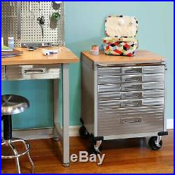 Seville Stainless Steel Heavy Duty Rolling Toolbox Tool Box Cabinet 6 Drawers