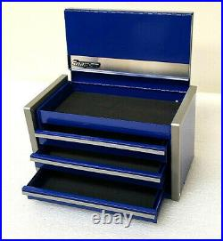 Snap-On New Royal Blue Miniature Mini Upper Top Tool Box Drawers Small Cabinet