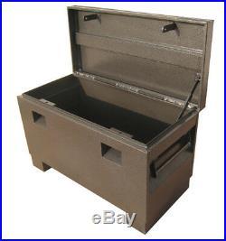 Steel Job Site Tool Box Van forklift Garage Vault Site 48