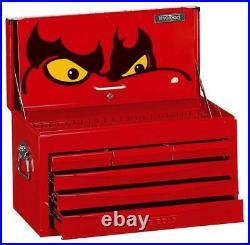Teng Tools TC806SV 6 Drawer Top Tool Box Storage Chest Red Ball Bearing Slides