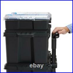 Tool Box, Mobile Storage & Organization, Black, Stack System for Crafts, DIY