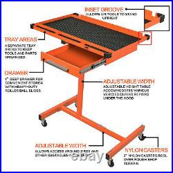 US Stock Heavy Adjustable Work Table with Drawer, 200lbs Capacity Rolling Tool