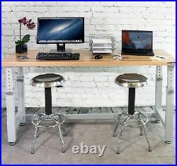 UltraHD 72 Adjustable Height Heavy-Duty Wood Top Workbench