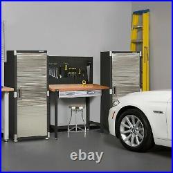 Ultrahd Tall 1-door Lockable Storage Cabinet, 24w X 18d X 66h Satin Graphite