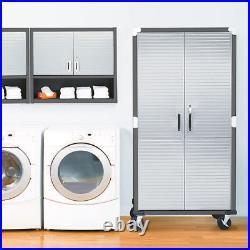 Ultrahd Wall Cabinet With Open Shelf, 36 W X 12 D X 30 H, Satin Graphite