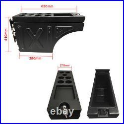 Ute Tub Lockable Universal Side Tool box Trailer Ute Black