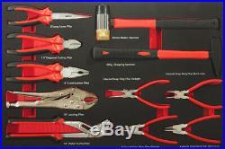 Werkzeugwagen mit 7 Schubladen inkl. 5 mit Werkzeug gefüllt Schaumstoffeinlagen