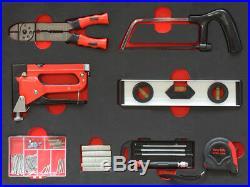 Werkzeugwagen mit 7 Schubladen inkl. 6 mit Werkzeug CRV in Schaumstoffeinlagen