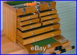 Wood Tool Chest, Art Crafts, Craft Work Carving Box, Carpenter Machinist Storage