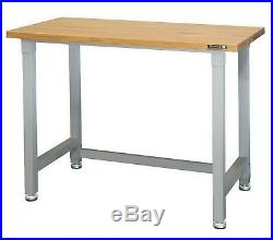 Workbench Table Work Bench Wood Top 4' Steel Frame 800 lb Capacity Gray